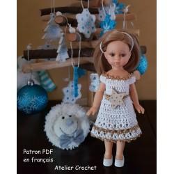 "Patron Crochet ""Noël doré""..."