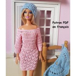 patron d'un ensemble au crochet pour poupée Barbie