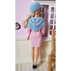patron châle au crochet pour Barbie