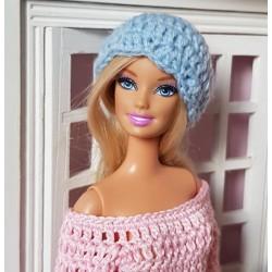 patron bonnet au crochet pour Barbie