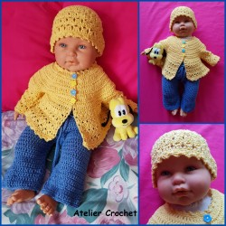 Ensemble Edoline au crochet...