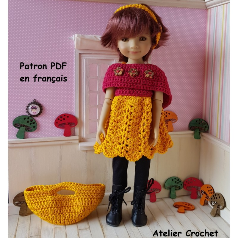 patron ensemble au crochet pour poupée Fashion Friends