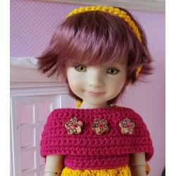 patron étole au crochet pour poupée Fashion Friends