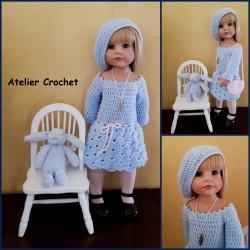"""Tenue """"Louisa"""" pour poupée..."""