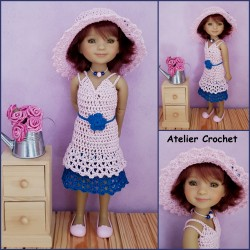 dress and hat crochet pattern for Ruby Red Fashion Friends