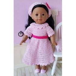 robe et fichu au crochet pour poupée Ma Corolle