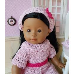 Fichu au crochet pour poupée Ma Corolle