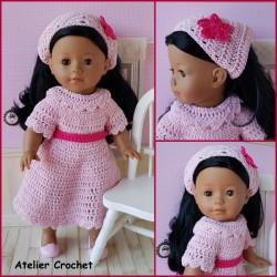 Patron robe et fichu au crochet pour poupée Ma Corolle 36cm