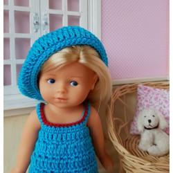 béret au crochet pour poupée mini corolline de chez Corolle
