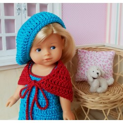 Patron ensemble au crochet pour poupée mini corolline