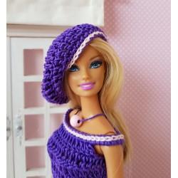 patron d'une tenue au crochet pour poupée Barbie