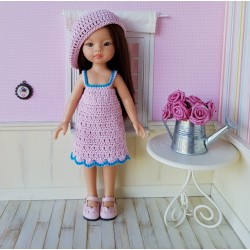 Dress and beret pattern for doll