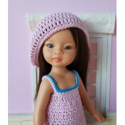 beret crochet pattern for Paola Reina doll
