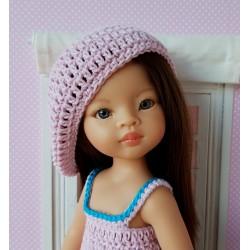patron béret au crochet pour poupée Paola Reina Las Amigas