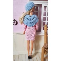 shawl crochet pattern for Barbie.