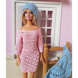 dress crochet pattern for Barbie.