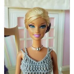 Evening dress crochet pattern for Barbie