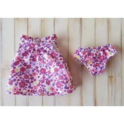 robe et culotte corolle pour poupée mini corolline