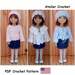 Crochet pattern for Ruby Red Fashion Friends.
