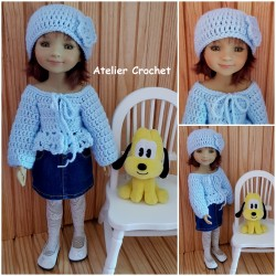 Cardigan and hat crochet pattern for Fashion Friends.