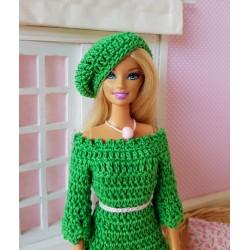 Patron d'un béret au crochet pour Barbie