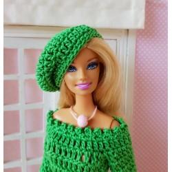 Patron pour réaliser un béret au crochet pour Barbie