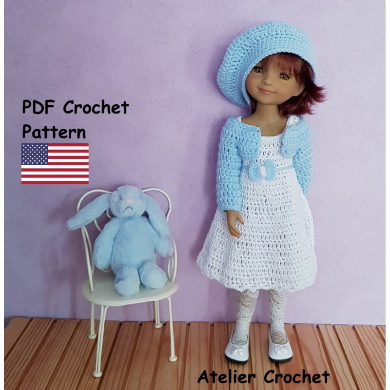PDF Crochet pattern for Ruby Red Fashion Friends