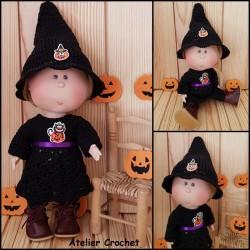 Tenue d'Halloween au crochet pour Mia Nines d'Onil