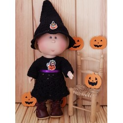 Tenue d'Halloween au crochet pour poupée Mia Nines d'Onil