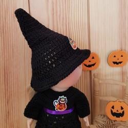 Patron tenue d'Halloween au crochet pour poupée Mia Nines d'Onil