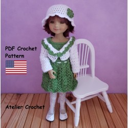 crochet pattern for Ruby Red Fashion Friends Doll