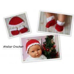 Bonnet et Chaussons de Noël...